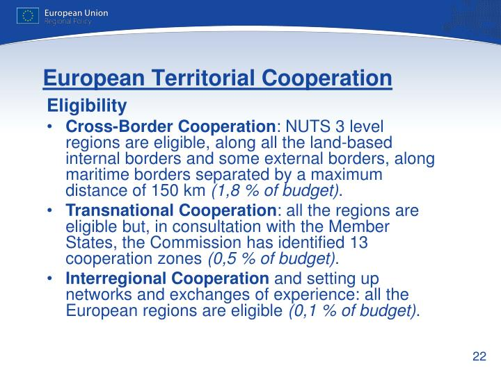 European Territorial Cooperation