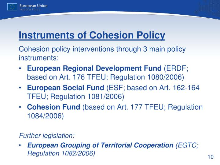Instruments of Cohesion Policy