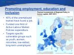 promoting employment education and inclusion
