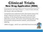 clinical trials new drug application nda