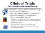clinical trials post marketing surveillance