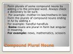 compound plural nouns