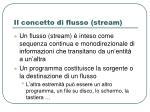 il concetto di flusso stream