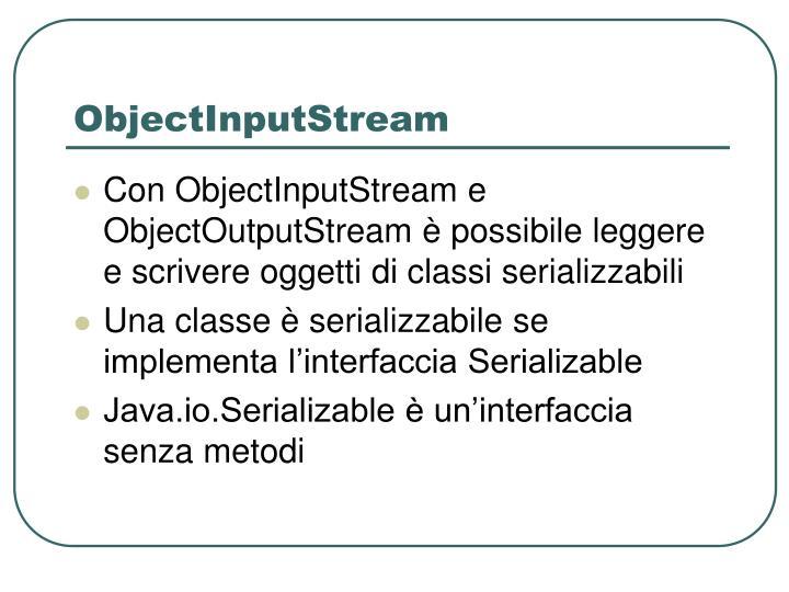 ObjectInputStream