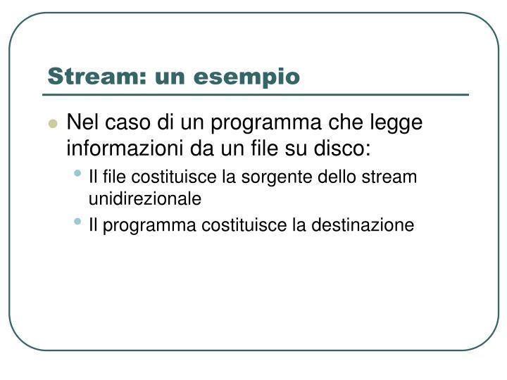 Stream: un esempio