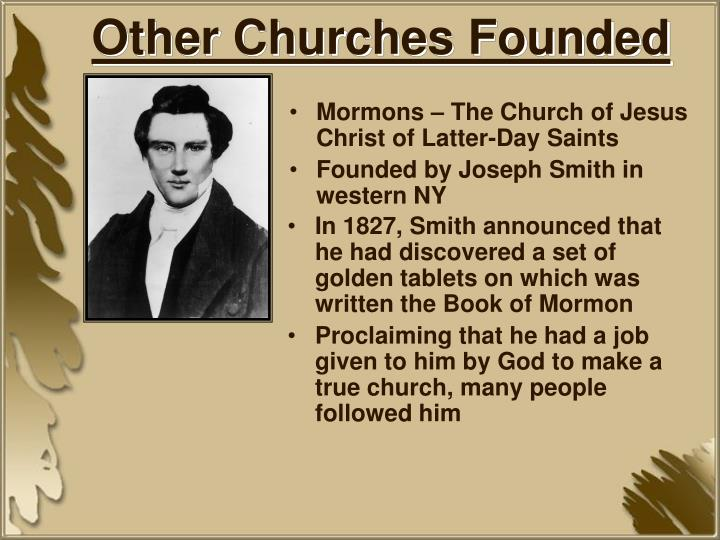 Other Churches Founded