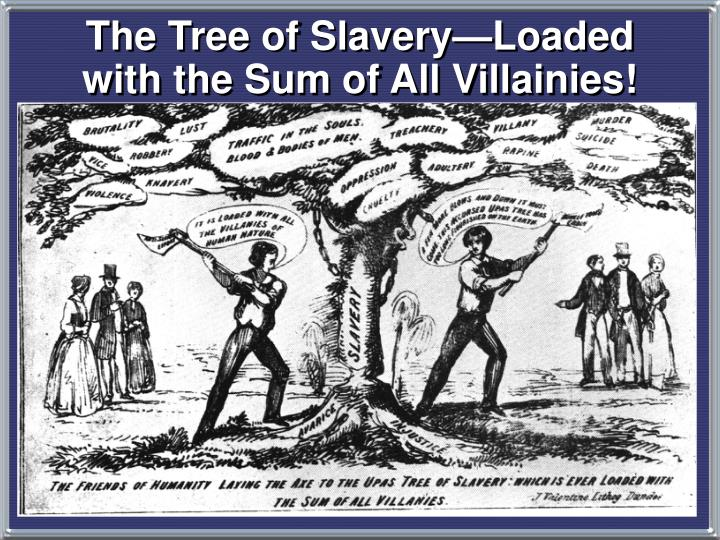 The Tree of Slavery—Loaded with the Sum of All Villainies!