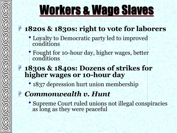Workers & Wage Slaves