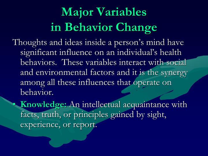 Major Variables
