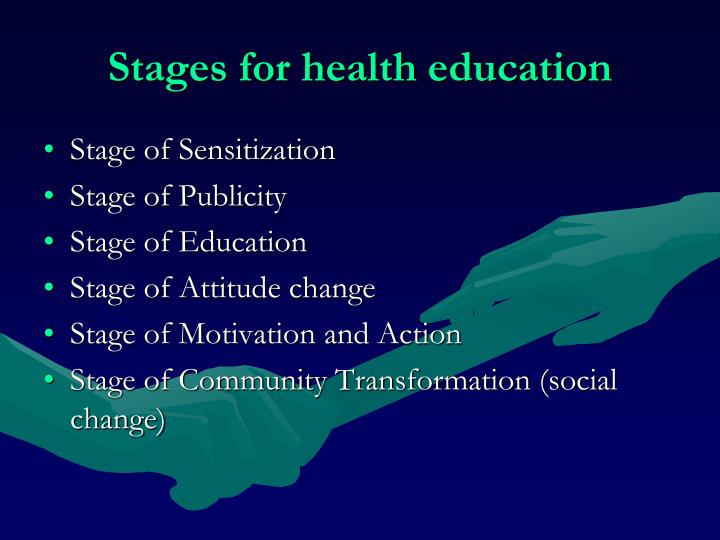 Stages for health education