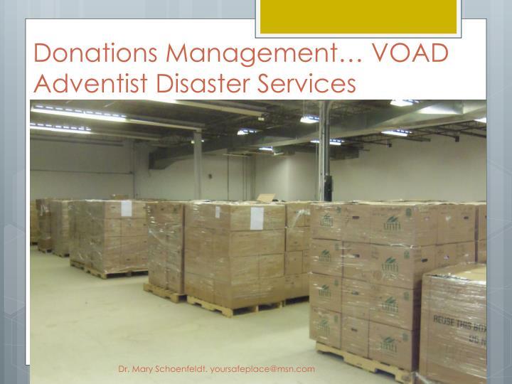 Donations Management… VOAD