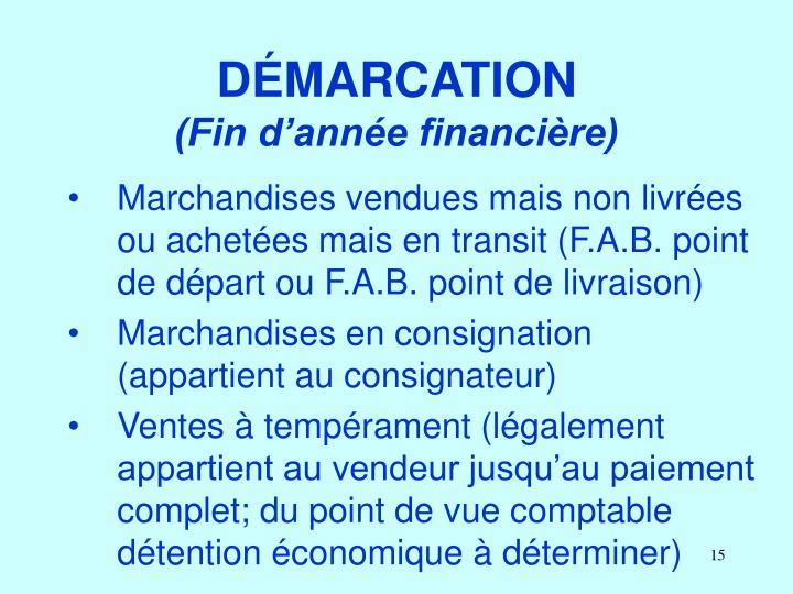 DÉMARCATION