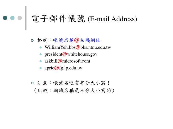 電子郵件帳號