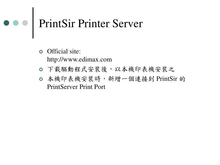 PrintSir Printer Server