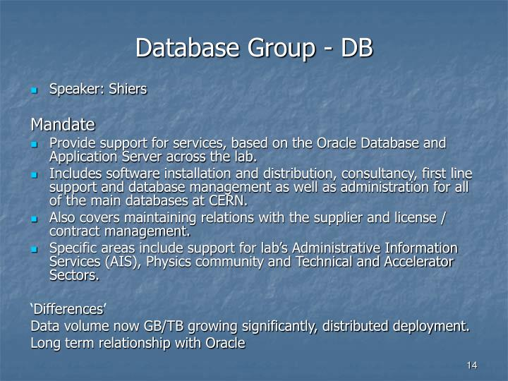 Database Group - DB
