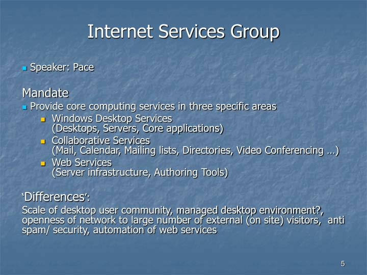 Internet Services Group