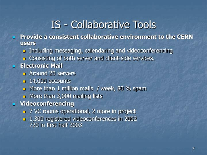 IS - Collaborative Tools
