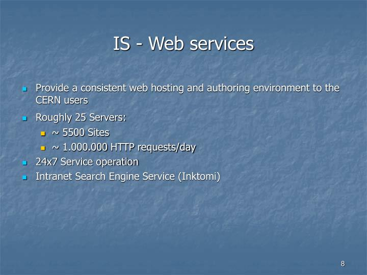 IS - Web services