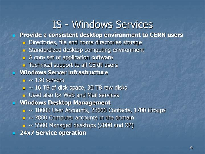 IS - Windows Services