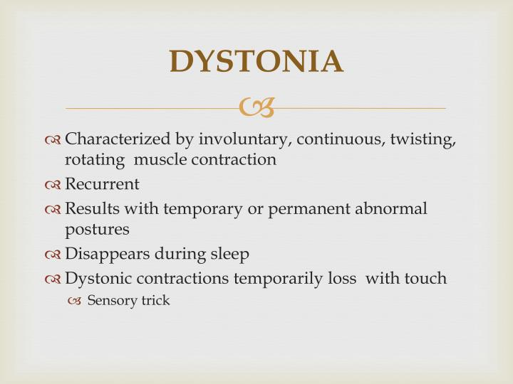 the signs symptoms and treatment of cervical dystonia Treatment is aimed at reducing symptoms and as a result improving quality of life  the first goal is usually to improve the abnormal head.