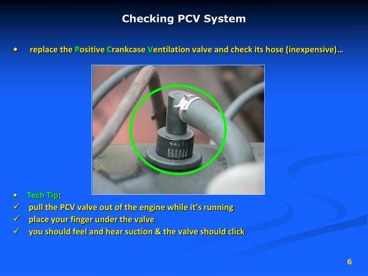 Checking PCV System