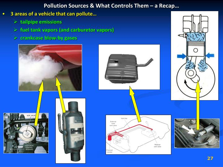 Pollution Sources & What Controls Them – a Recap…
