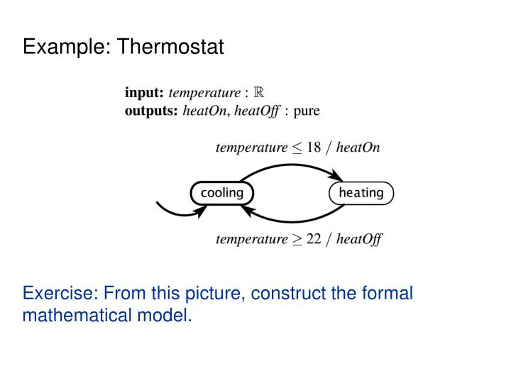 Example: Thermostat