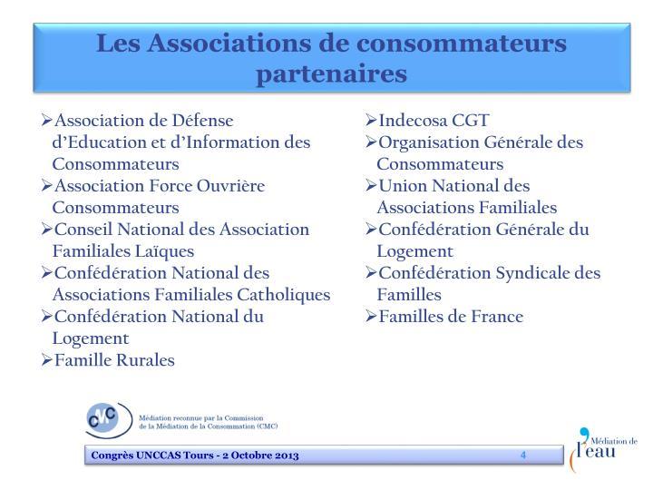 Les Associations de consommateurs partenaires