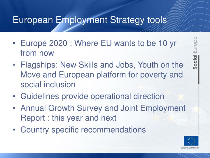 European Employment Strategy tools