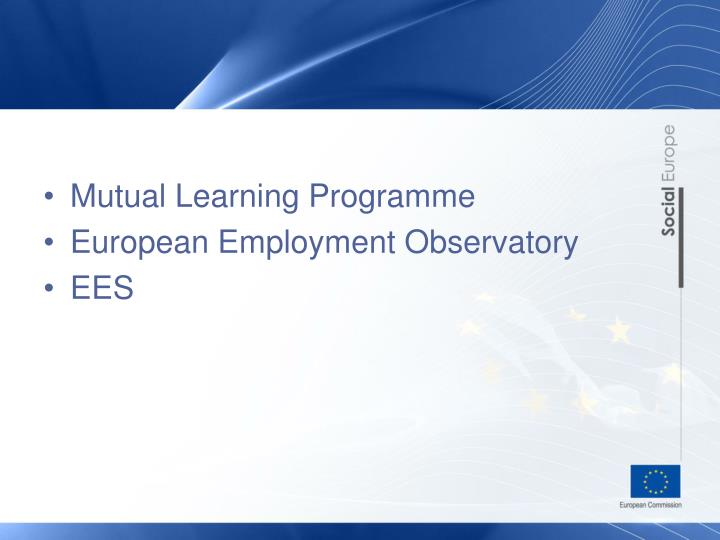 Mutual Learning Programme