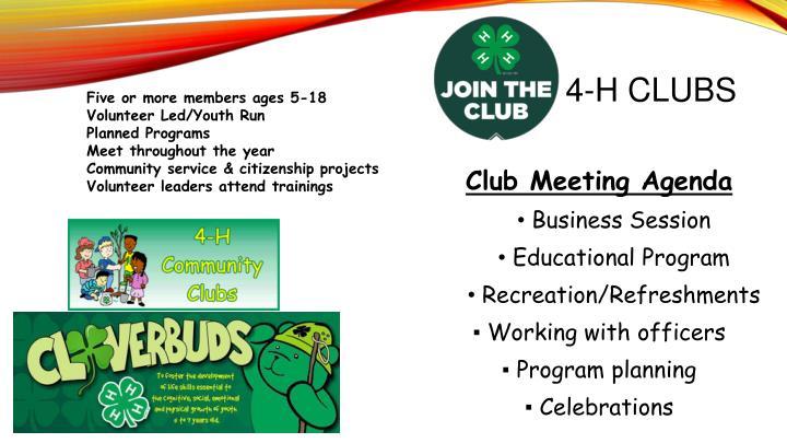 4-H CLUBS