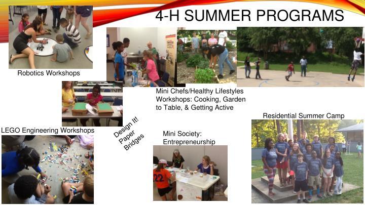 4-H SUMMER PROGRAMS