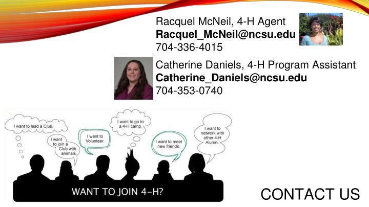 Racquel McNeil, 4-H Agent