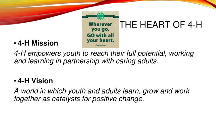 THE HEART OF 4-H