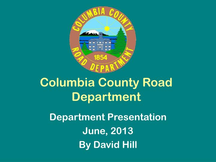 Columbia county road department