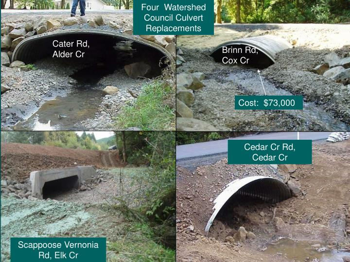 Four  Watershed Council Culvert Replacements
