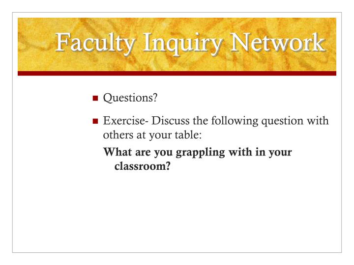 Faculty Inquiry Network