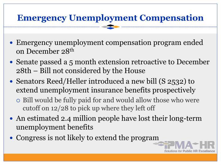 Emergency Unemployment Compensation