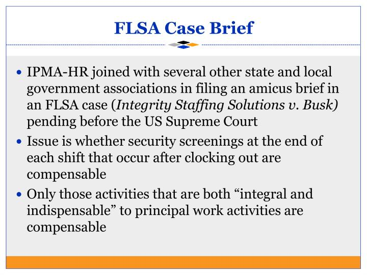 FLSA Case Brief