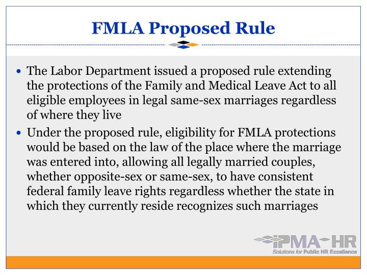 FMLA Proposed Rule