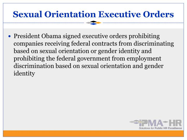 Sexual Orientation Executive Orders