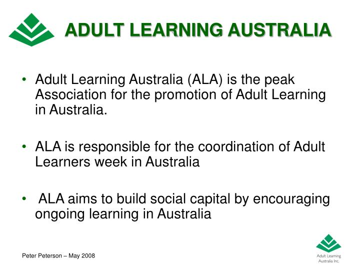 ADULT LEARNING AUSTRALIA