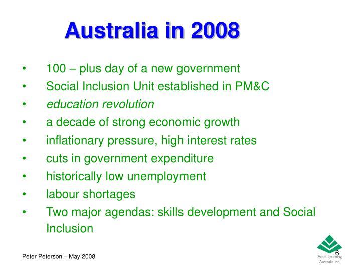 Australia in 2008