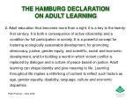 the hamburg declaration on adult learning