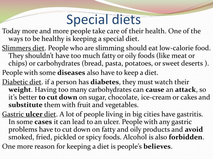 Special diets
