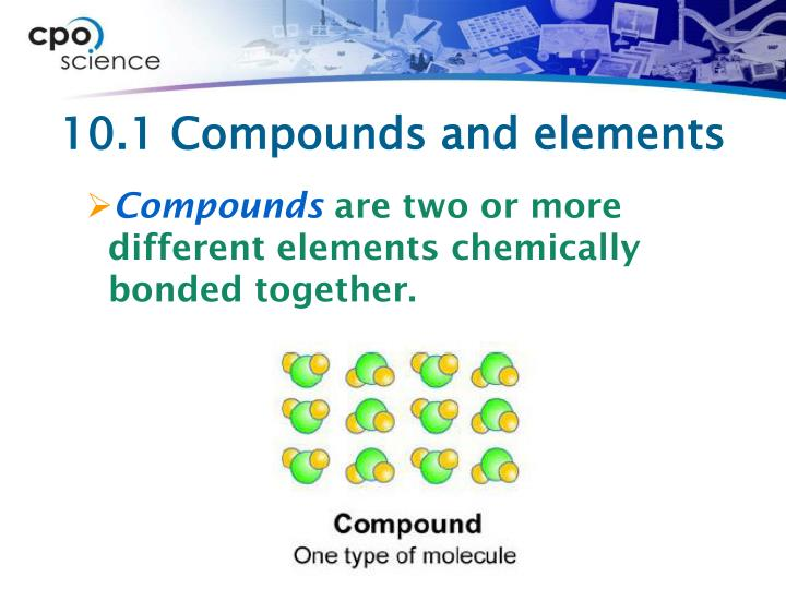 10.1 Compounds and elements