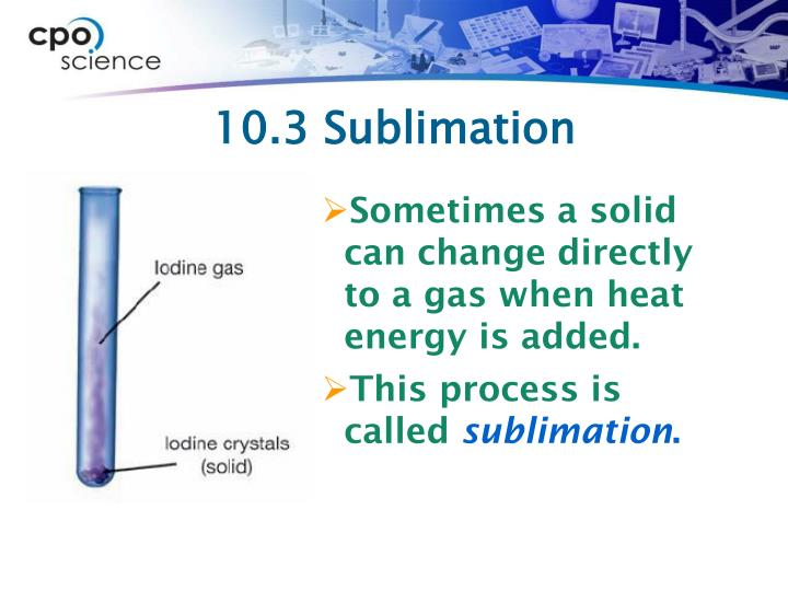10.3 Sublimation