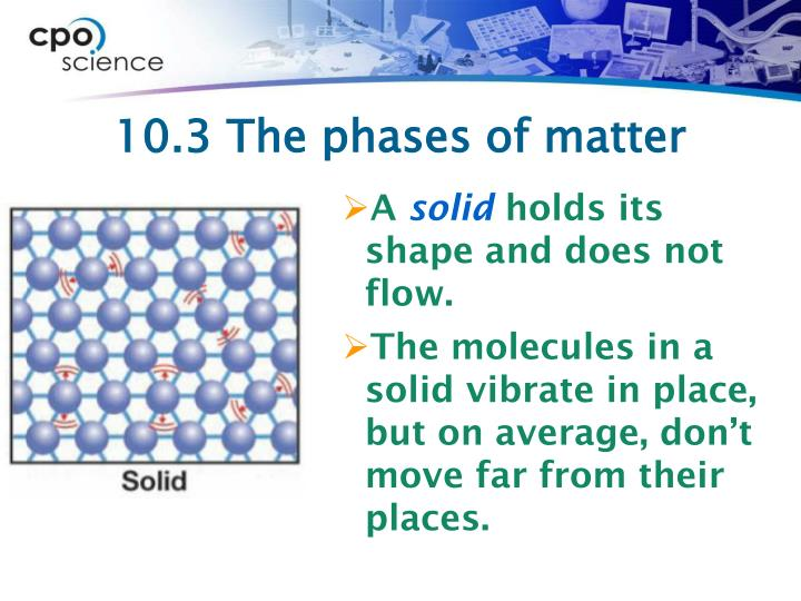 10.3 The phases of matter