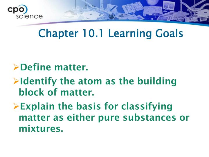 Chapter 10 1 learning goals