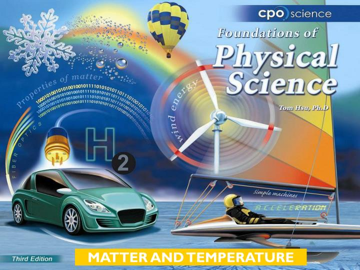 MATTER AND TEMPERATURE